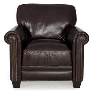dark brown leather chair rocker video game futura 7888 sofa with nailhead trim view this item