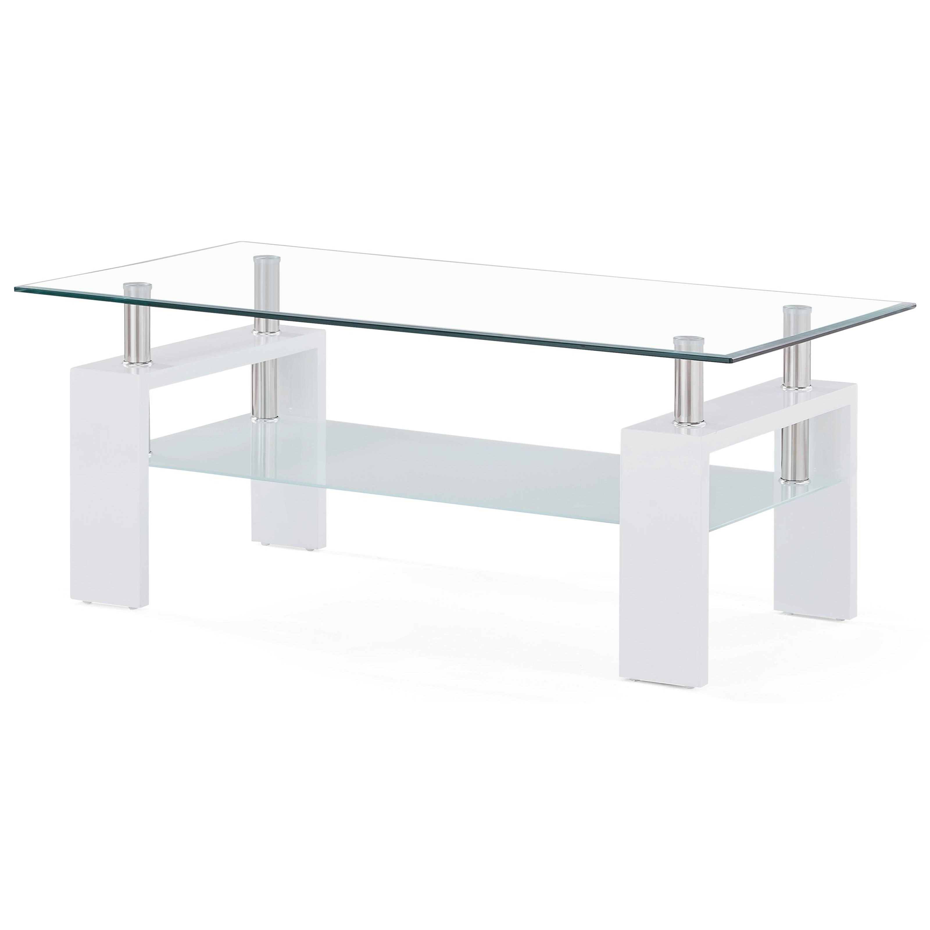 t648 glass and frosted coffee table