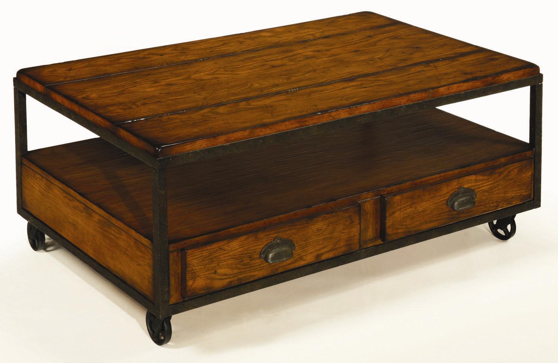 baja rectangular storage cocktail table
