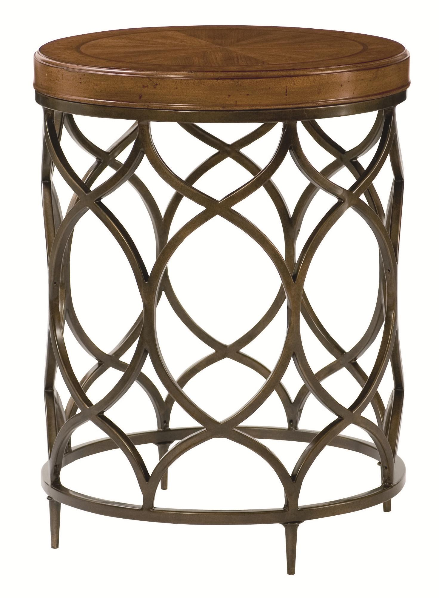 Hammary Hidden Treasures Round Lamp Table with Decorative