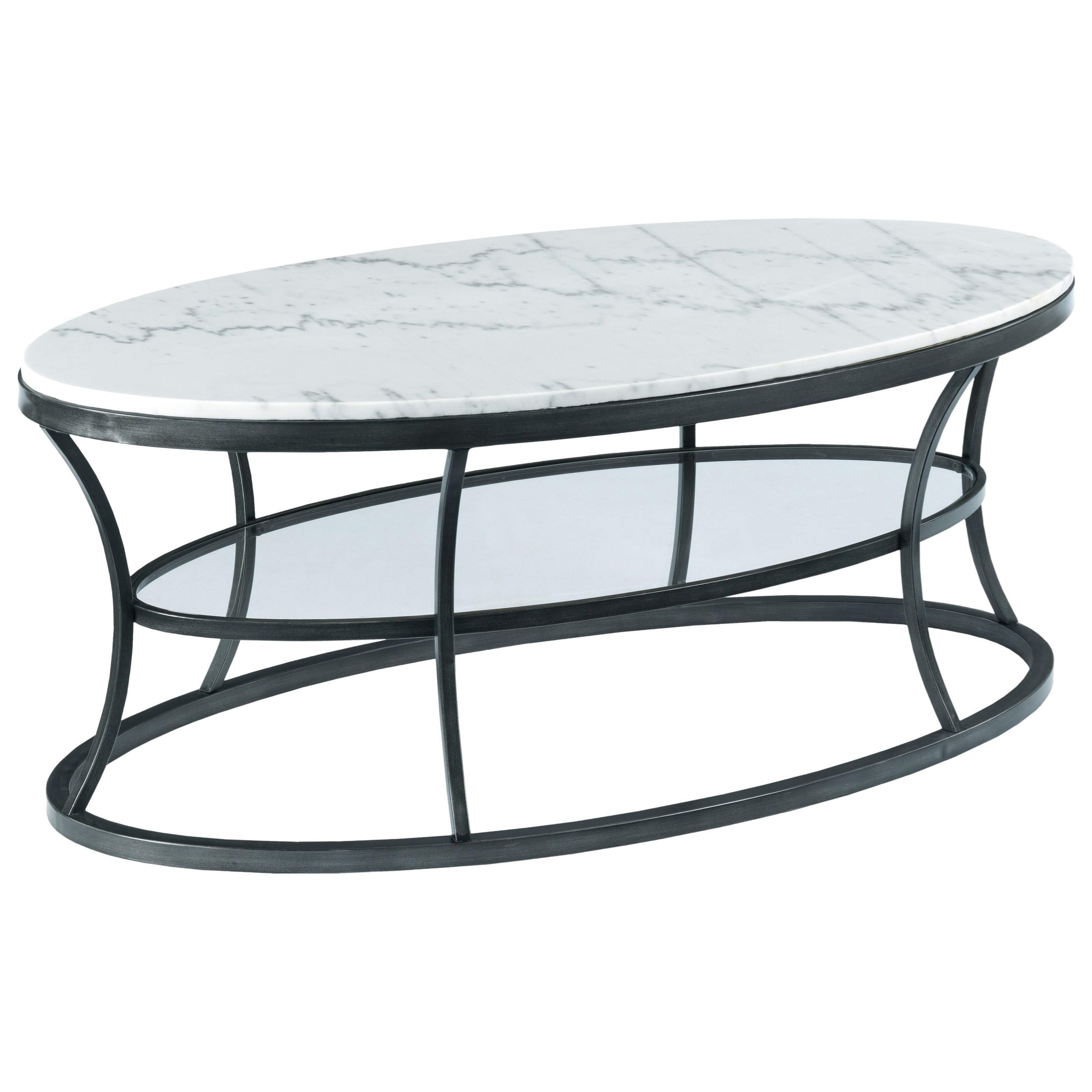 hammary impact oval cocktail table with