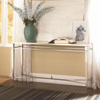 Hammary Mallory Silver Nickel Antique Finish Sofa Table ...
