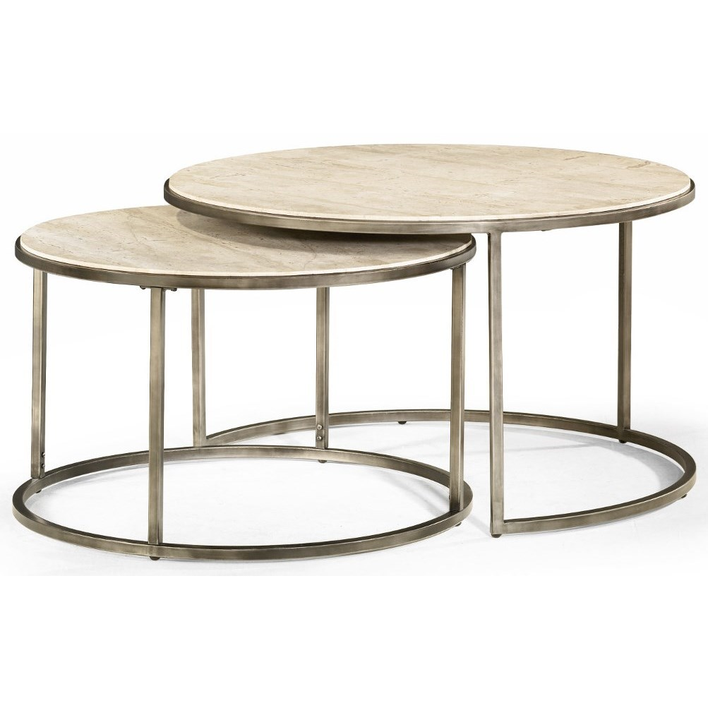 Hammary Modern Basics Round Cocktail Table With Nesting