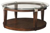 Hammary Solitaire Contemporary Round Coffee Table with ...