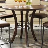 Hillsdale Cameron Round Wood Counter Height Table | Olinde ...