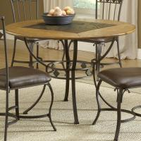 Hillsdale Lakeview Round Wood & Stone Top Dining Table ...