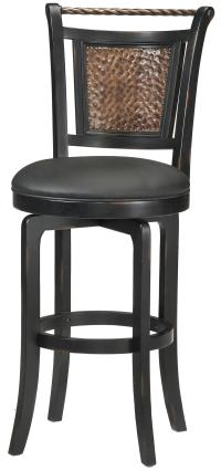 "Hillsdale Wood Stools 26.5"" Counter Height Norwood Swivel ..."
