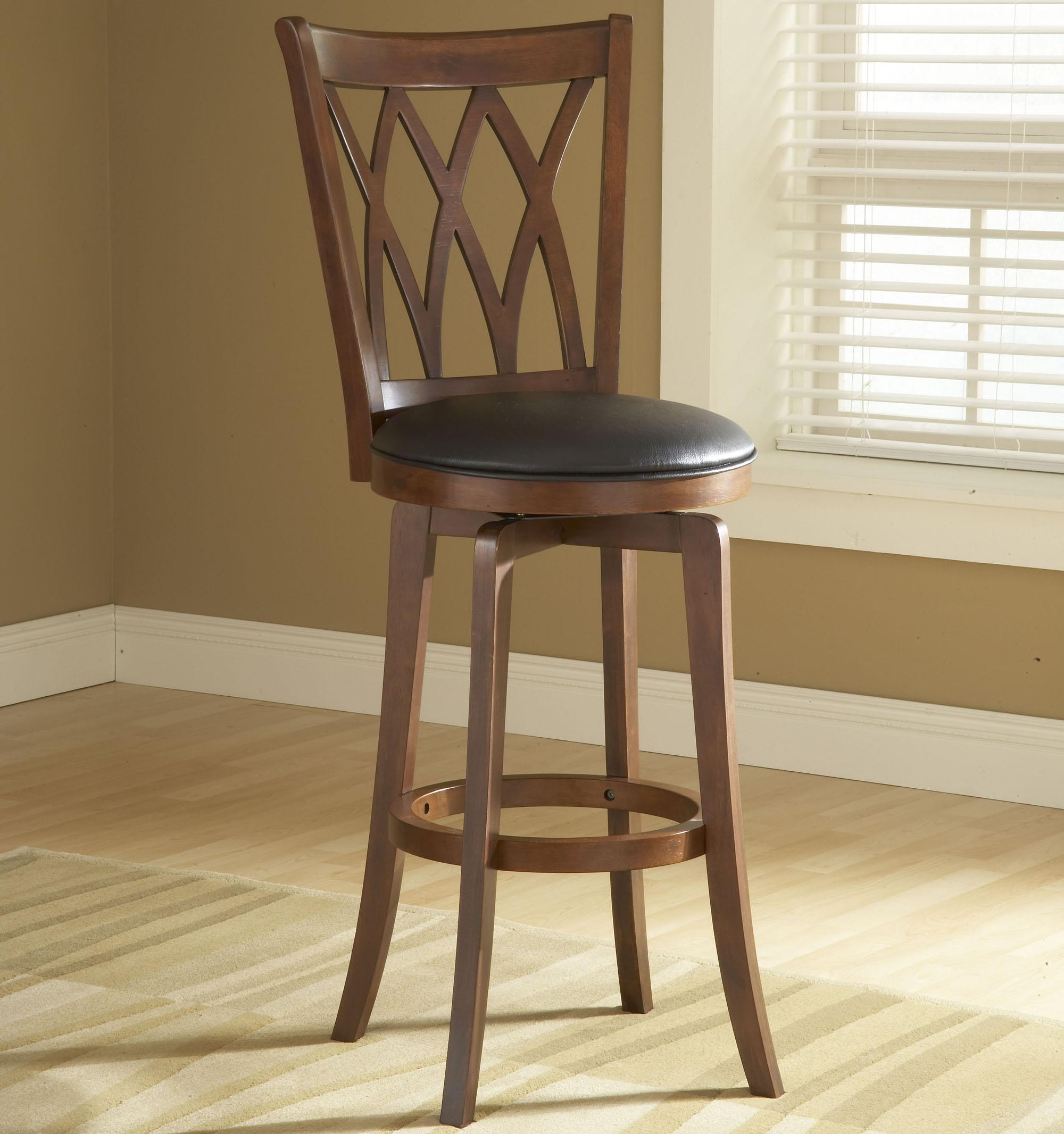 Wood Stools 24 Counter Height Mansfield Swivel Stool by