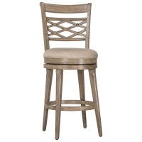 Hillsdale Wood Stools Upholstered Swivel Counter Stool ...