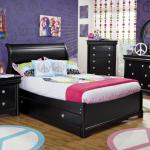 Holland House Petite Louis 2 Black Full Sleigh Bed Fmg Local Home Furnishing Sleigh Bed