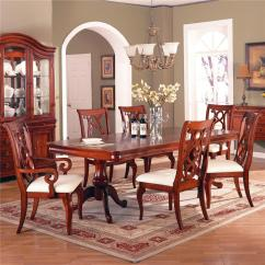 King Furniture Dining Chairs Vintage Velvet Chair Holland House Louis Double Pedestal Rectangular Table With