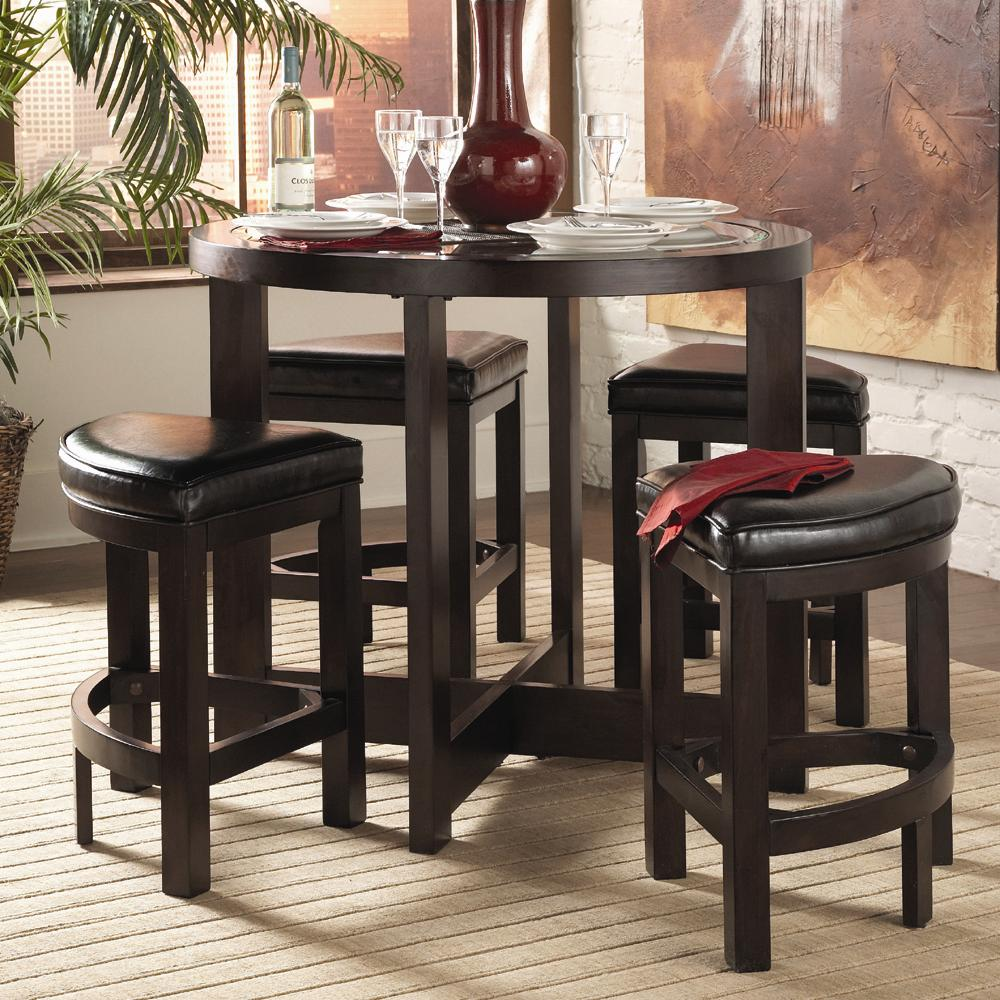 kitchen table stools distressed chairs homelegance 3219 5pc counter height dining set michael s furniture