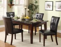 Homelegance Decatur 5 Piece Dining Set with Marble ...