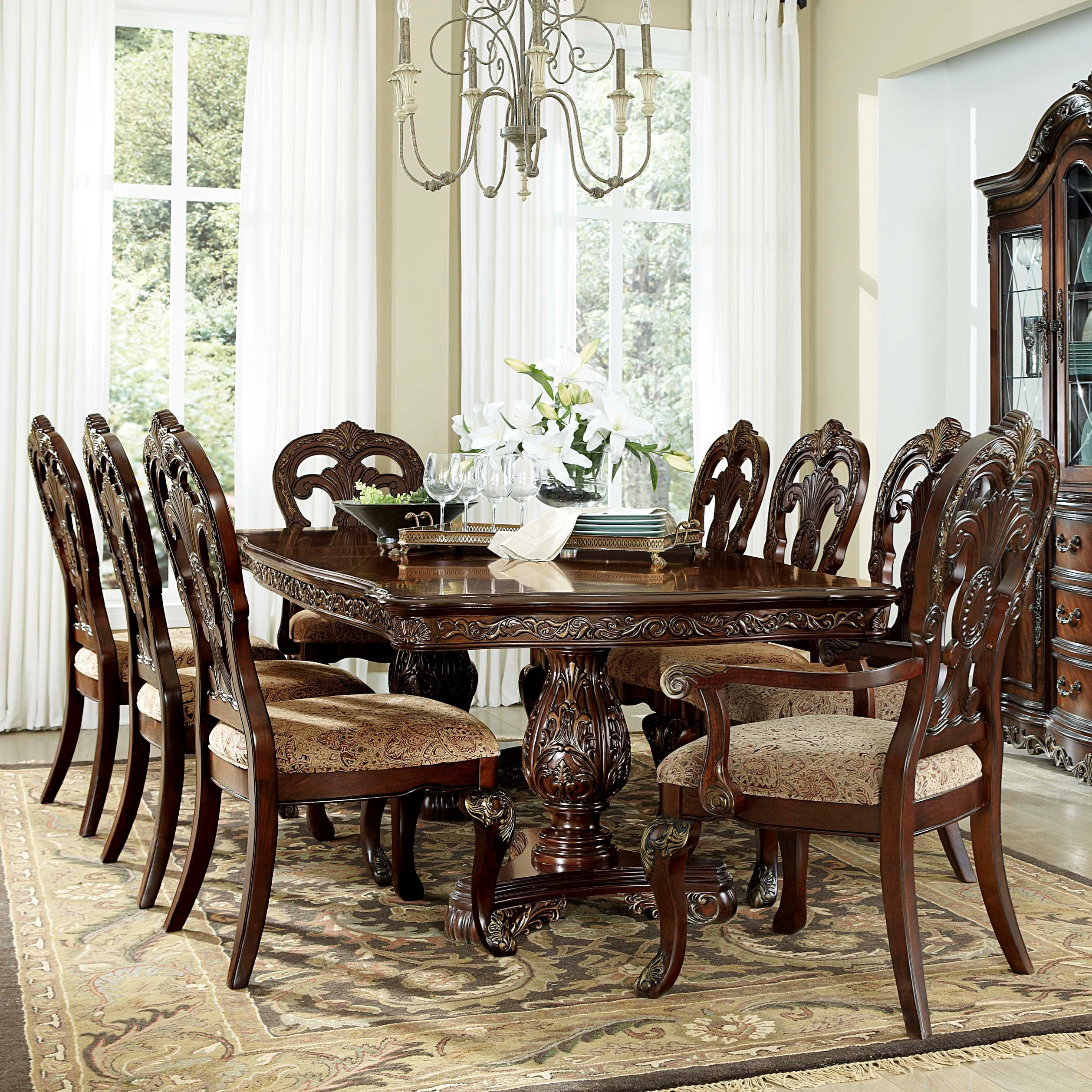Homelegance Deryn Park Traditional Dining Table And Chair