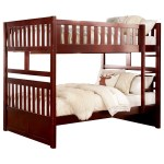 Cherry Casual Full Over Full Bunk Bed Walker S Furniture Bunk Beds