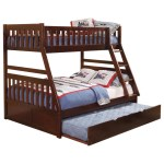 Homelegance Rowe Casual Twin Over Full Bunk Bed With Trundle Darvin Furniture Bunk Beds