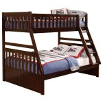 Homelegance Rowe Casual Twin Over Full Bunk Bed Darvin Furniture Bunk Beds