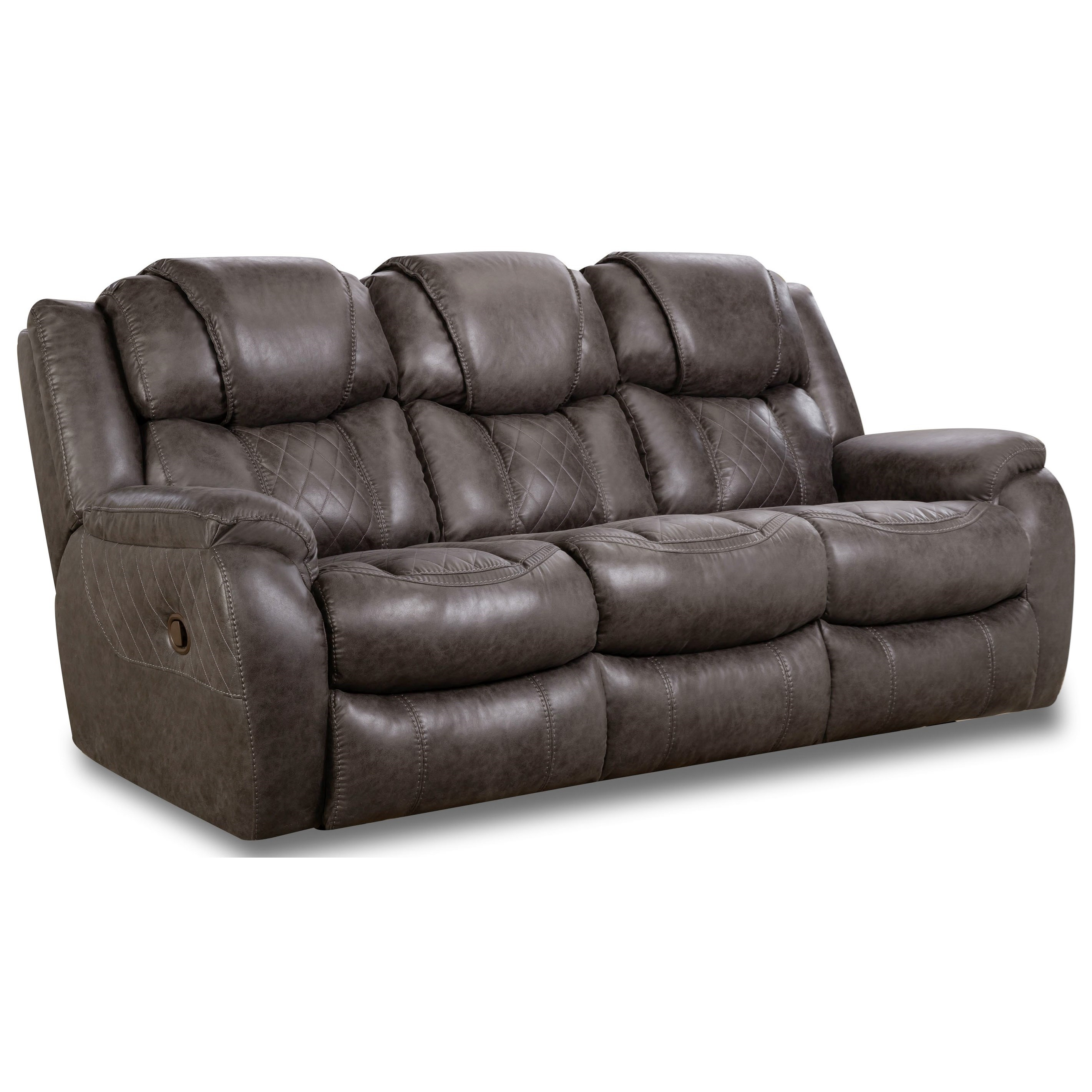 Homestretch 182 Casual Style Double Reclining Sofa Vandrie Home Furnishings Reclining Sofas