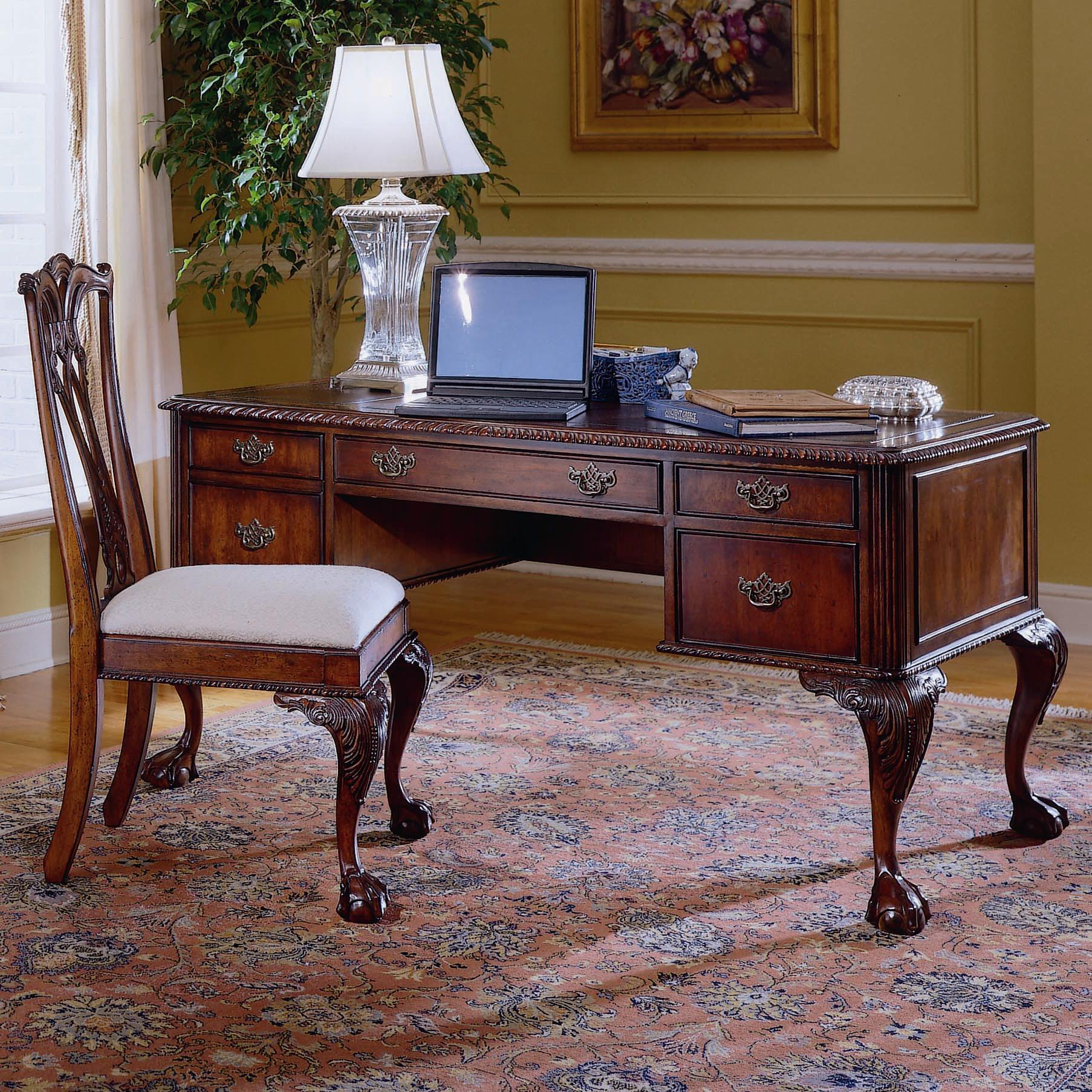 Desk Chair Ball 434 Ball And Claw Writing Desk By Hooker Furniture At Wayside Furniture