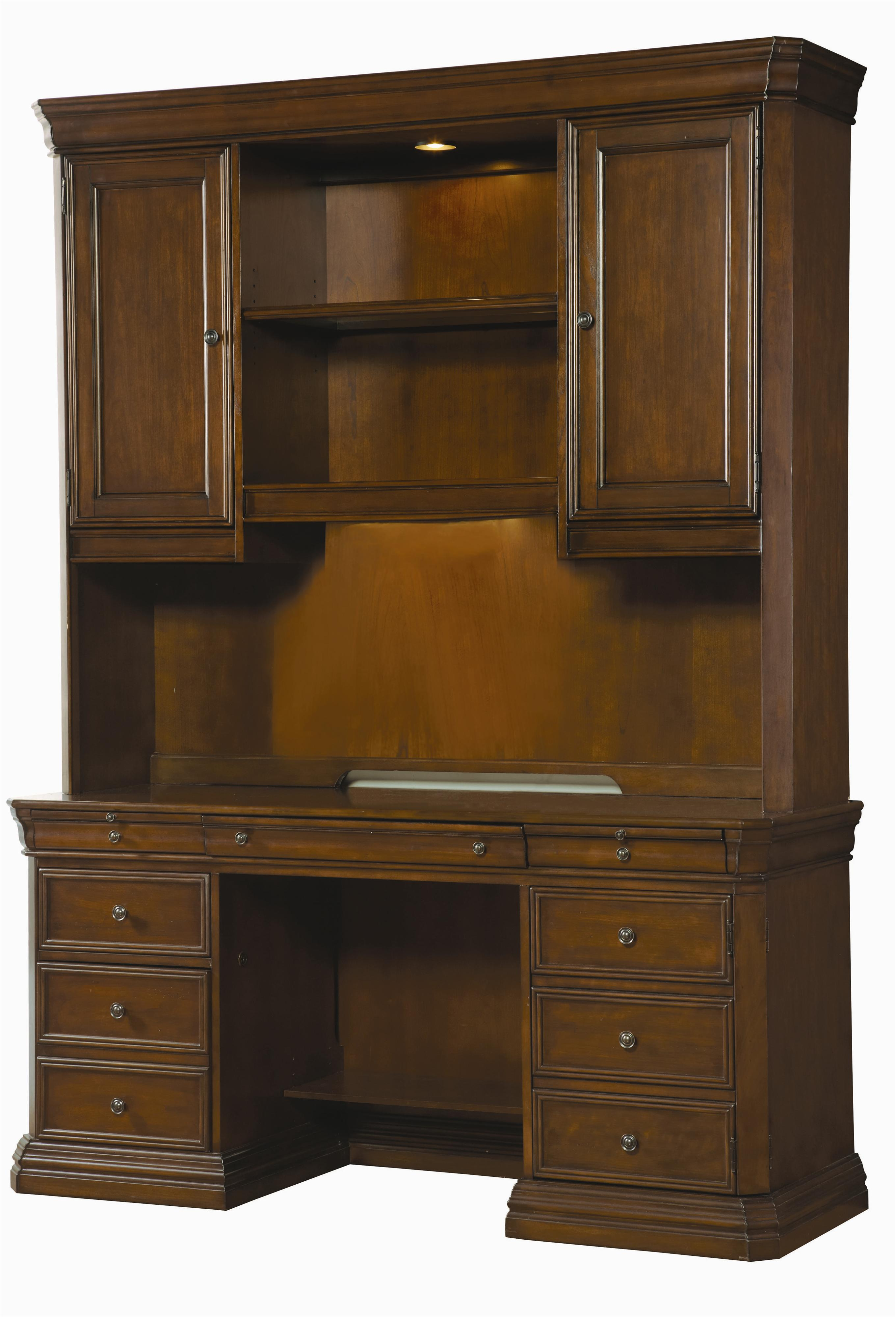 Hooker Furniture Cherry Creek Traditional Desk and Hutch