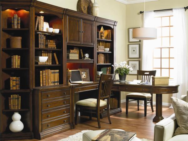 Hooker Furniture Cherry Creek Wall Unit With Partner Desk Baer' L-shape Desks