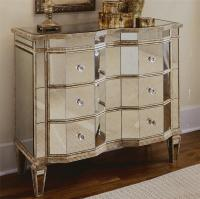 Hooker Furniture Chests and Consoles Mirrored Chest with 3 ...