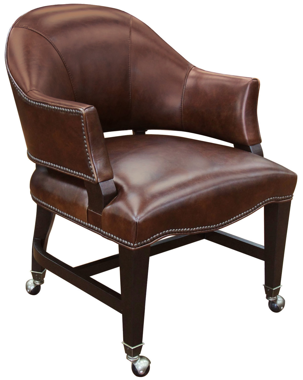 Hamilton Home Game Chairs Leather Game Chair with Swivel