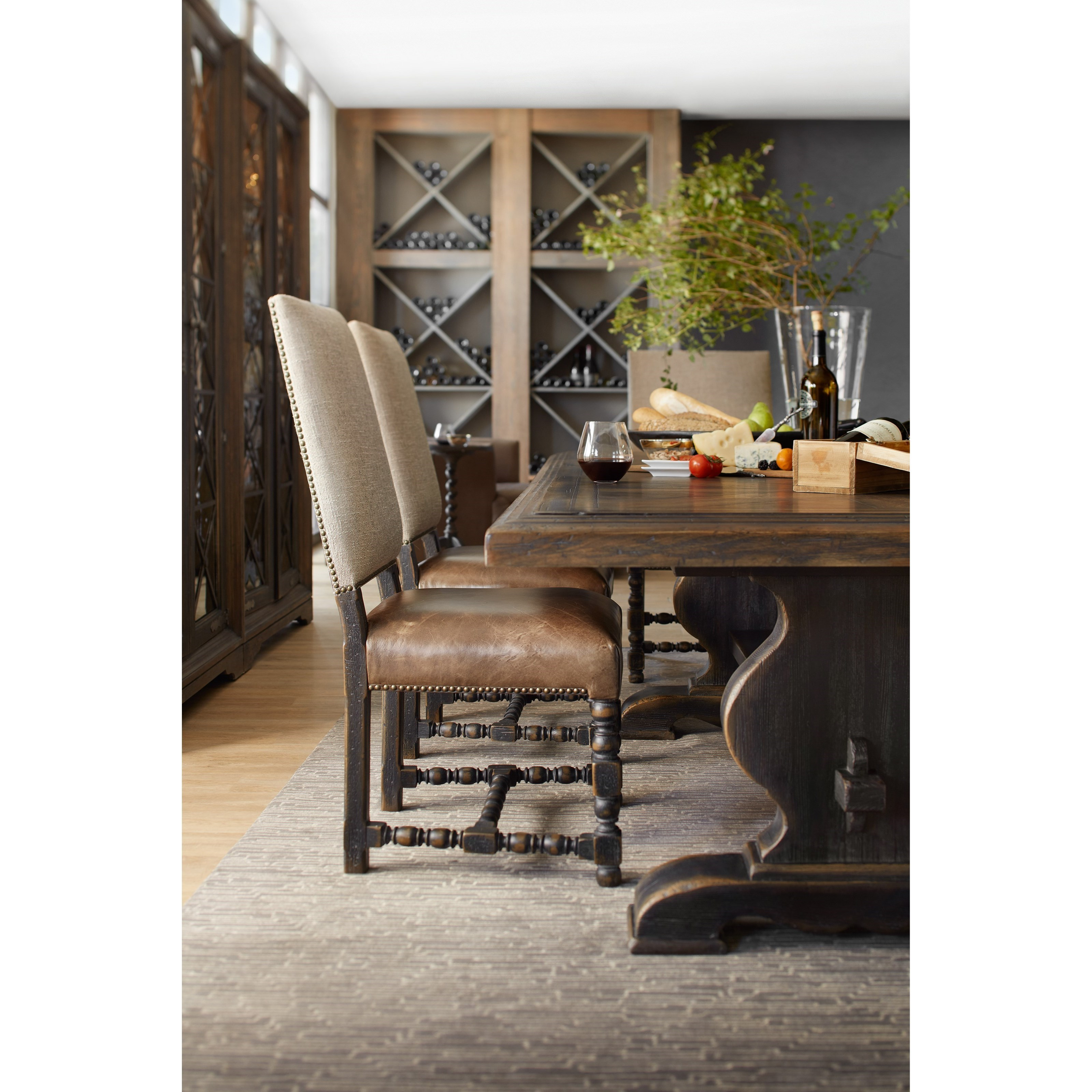 Hooker Furniture Hill Country Bandera 86in Table Trestle