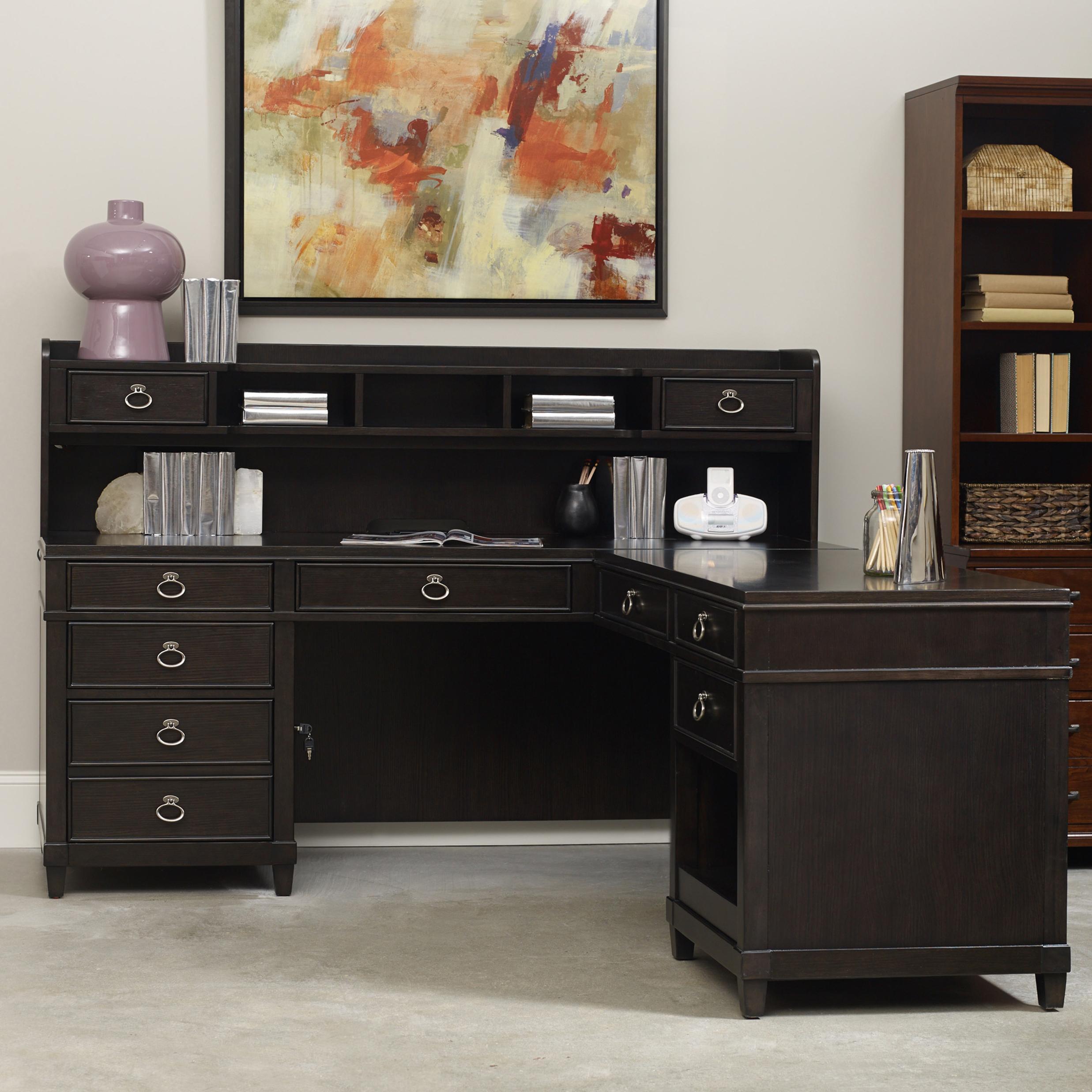 Hooker Furniture Kendrick L Desk with Hutch  Belfort
