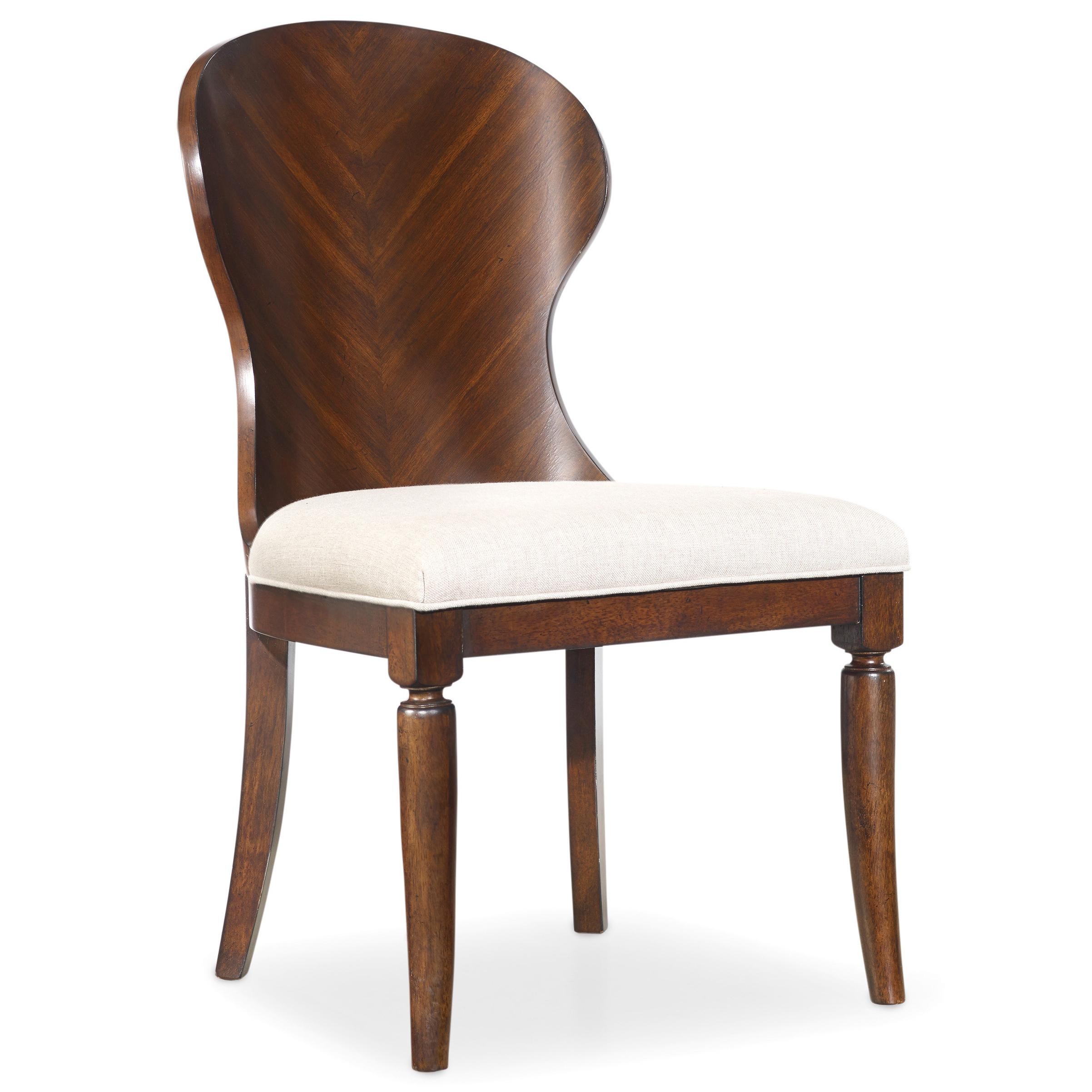 Hooker Furniture Palisade Shaped Wood Back Side Chair with
