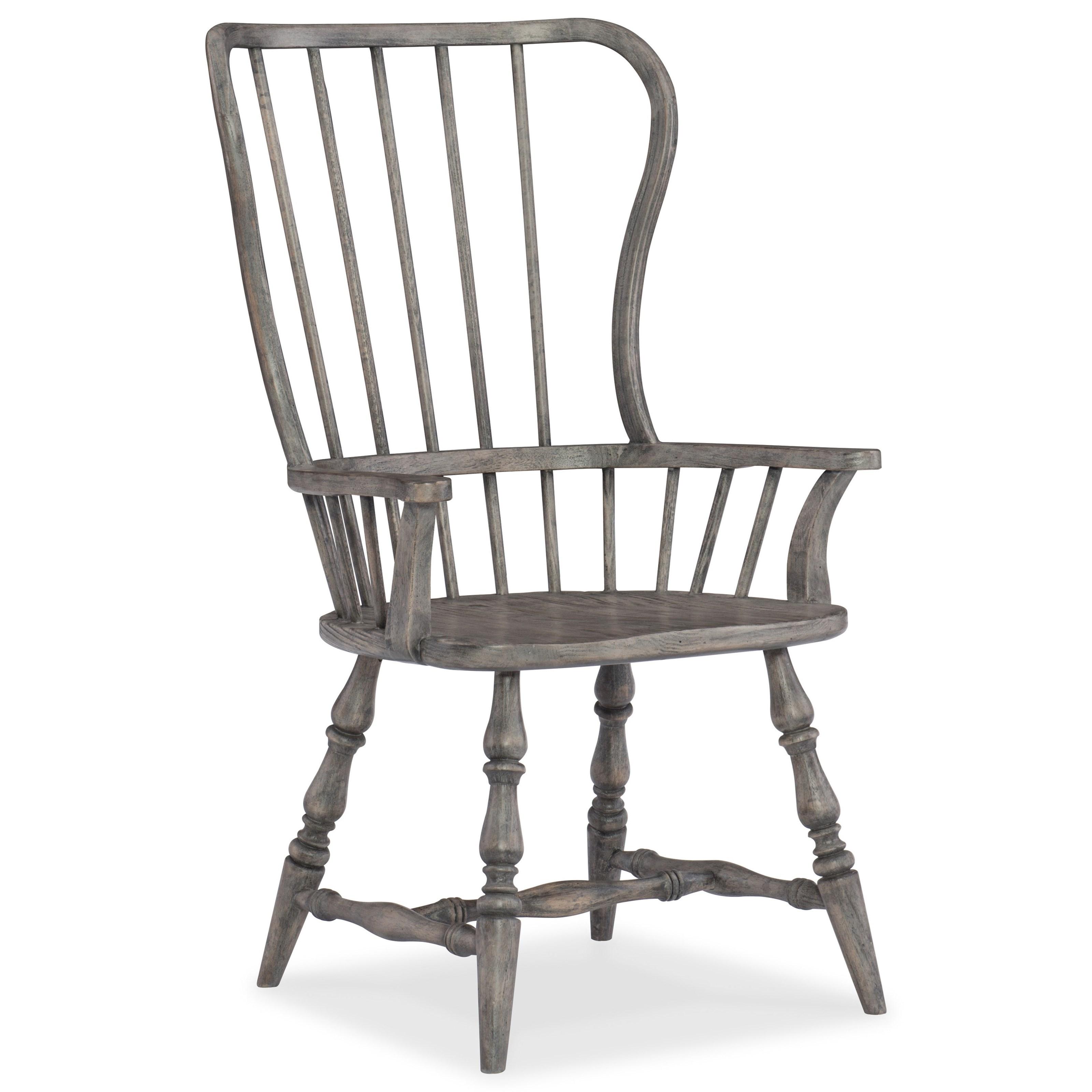 Hooker Furniture Sanctuary Transitional Spindle Back Arm