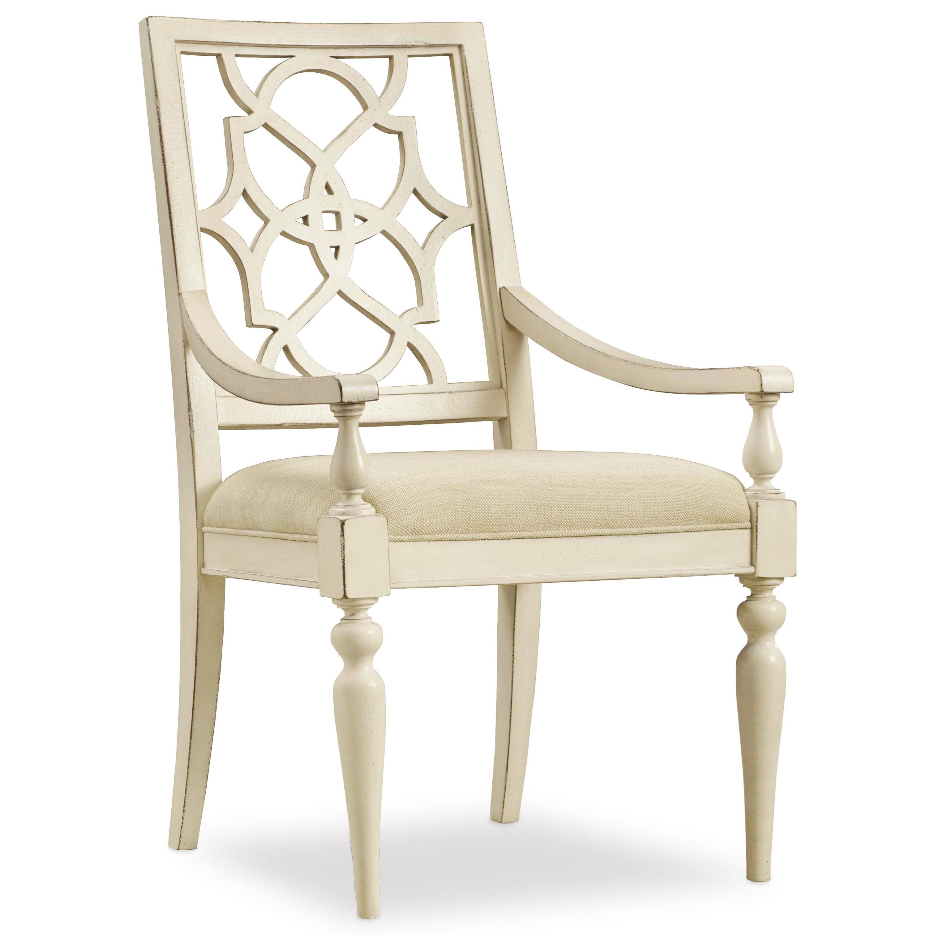 Hooker Furniture Sandcastle Fretback Arm Chair