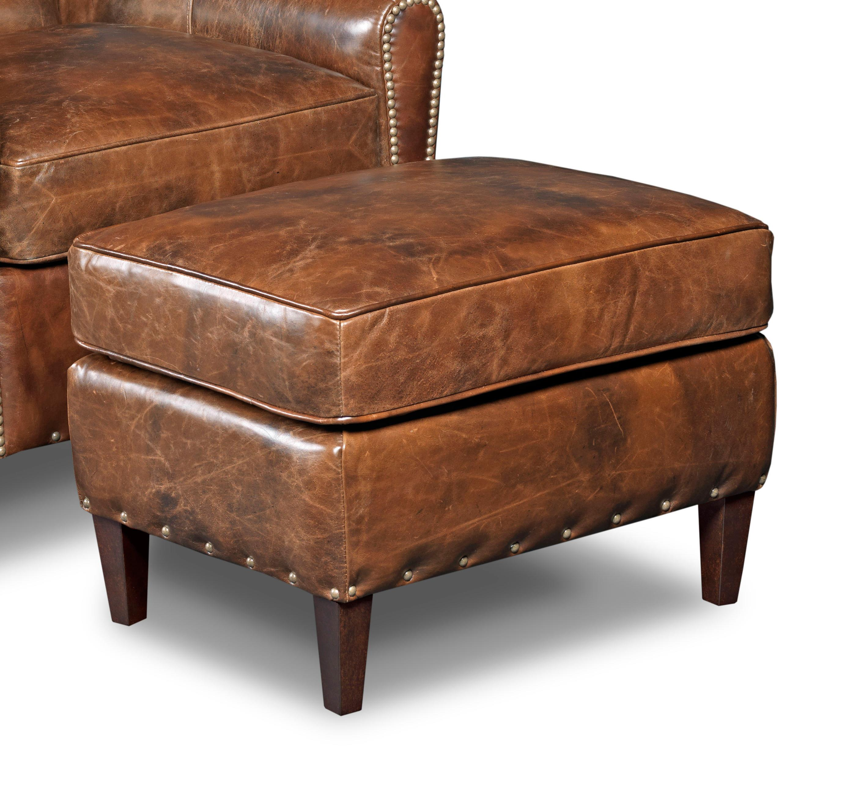 Chairs With Ottoman Club Chairs Transitional Ottoman With Nailhead Studs By Hamilton Home At Rotmans