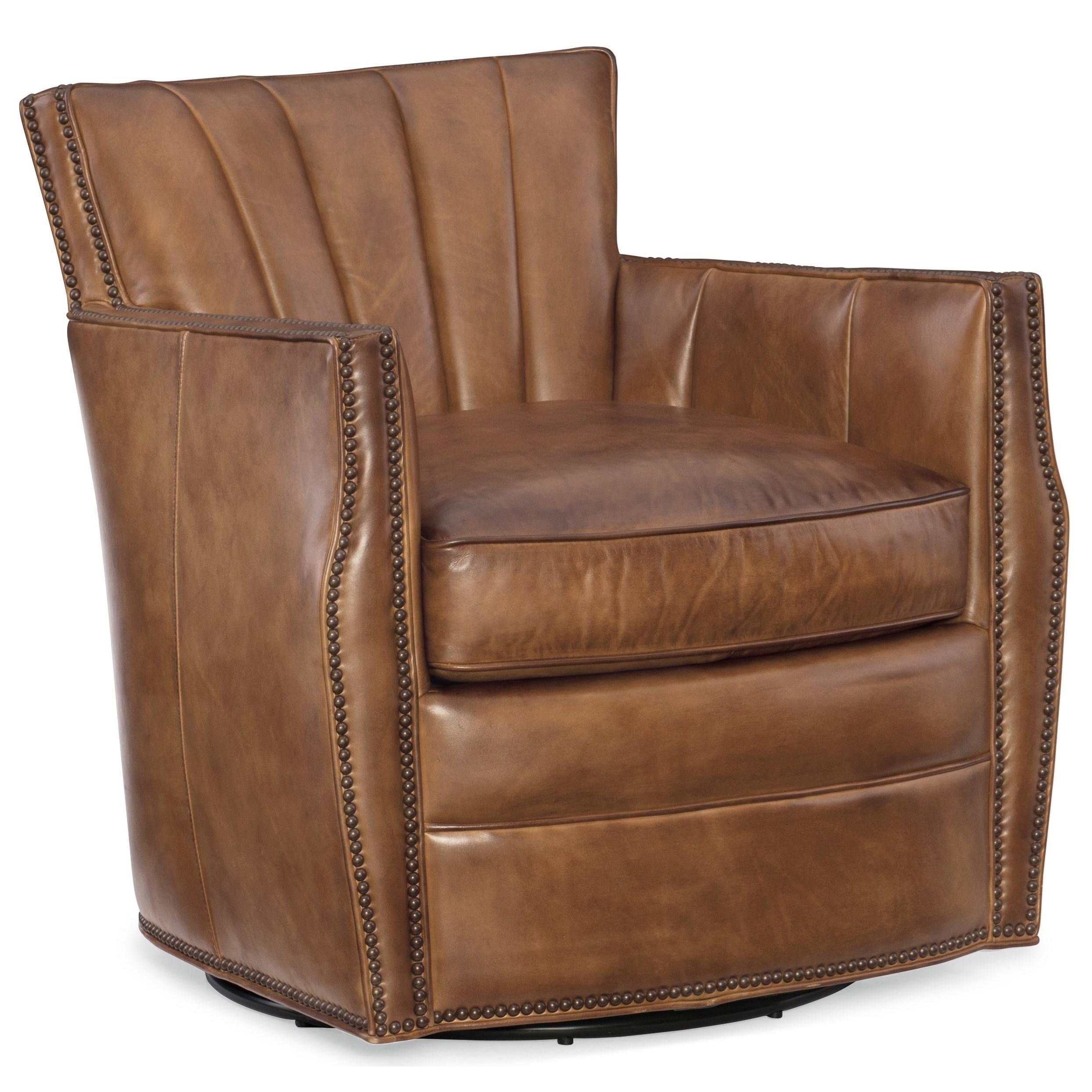 Hooker Furniture Club Chairs Carson Swivel Club Chair
