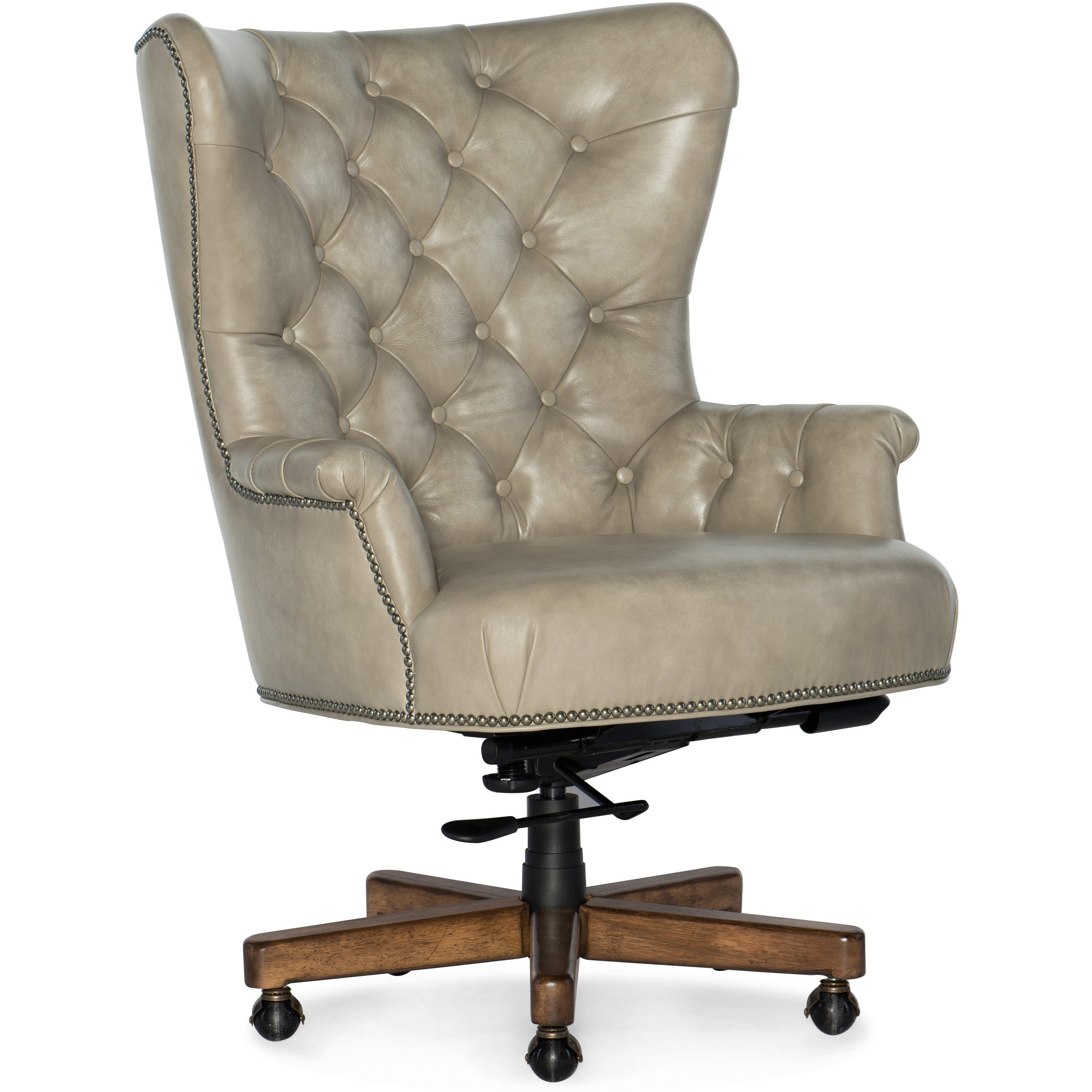 Tufted Leather Office Chair Executive Seating Traditional Executive Chair With Button Tufting By Hooker Furniture At Dunk Bright Furniture