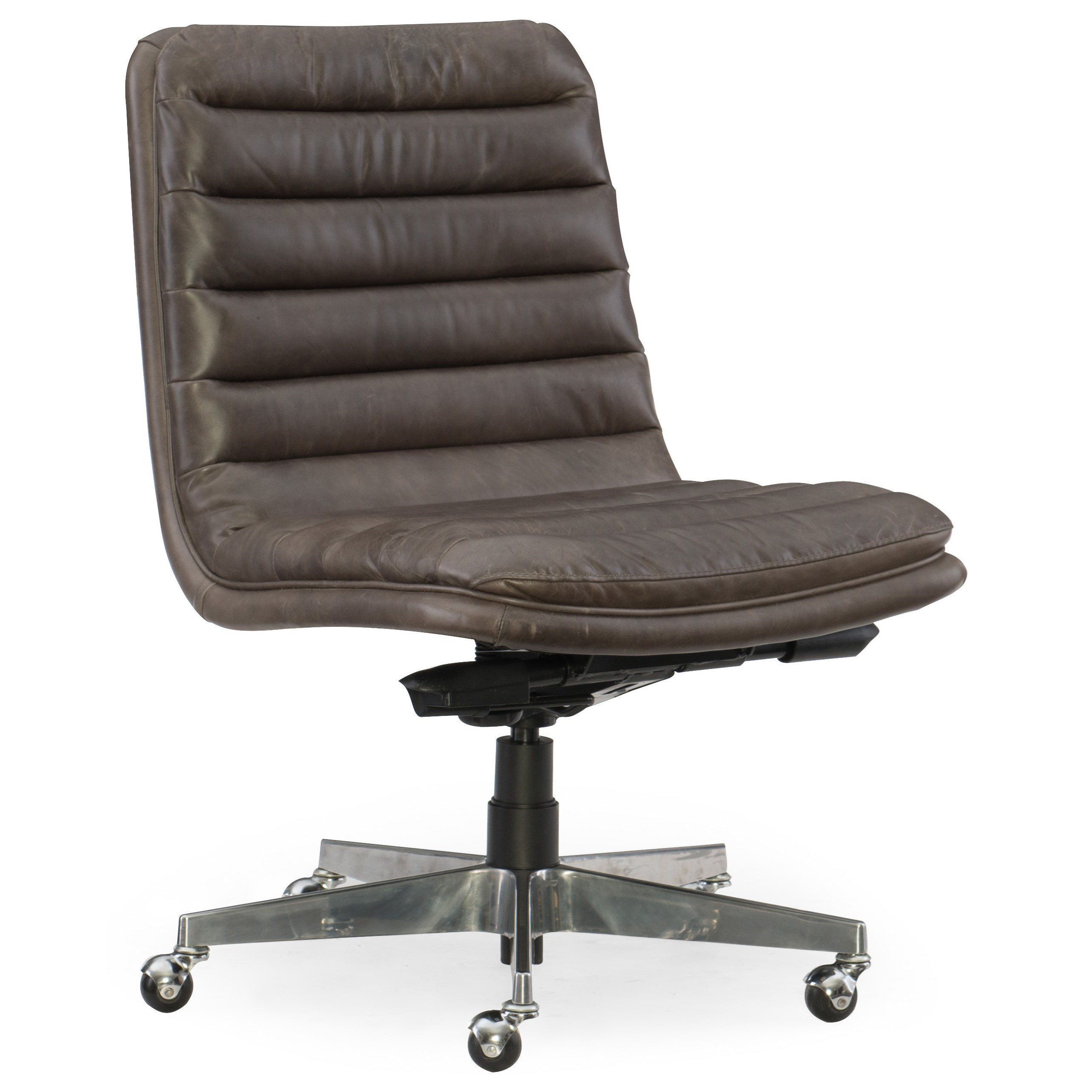Tufted Leather Office Chair Executive Seating Wyatt Home Office Chair With Chrome Base By Hooker Furniture At Belfort Furniture