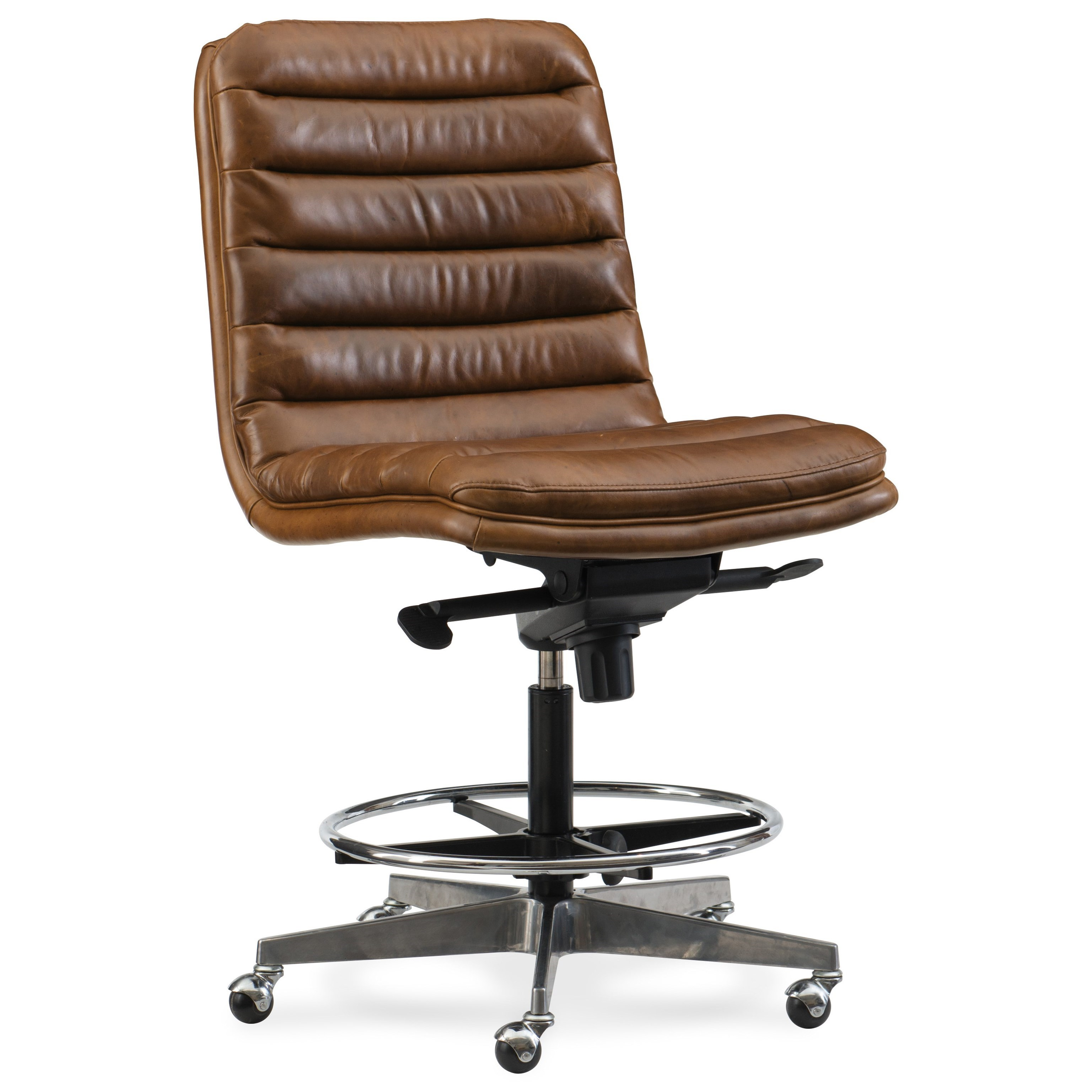 Tufted Leather Office Chair Executive Seating Wyatt Home Office Tall Desk Chair By Hooker Furniture At Olinde S Furniture