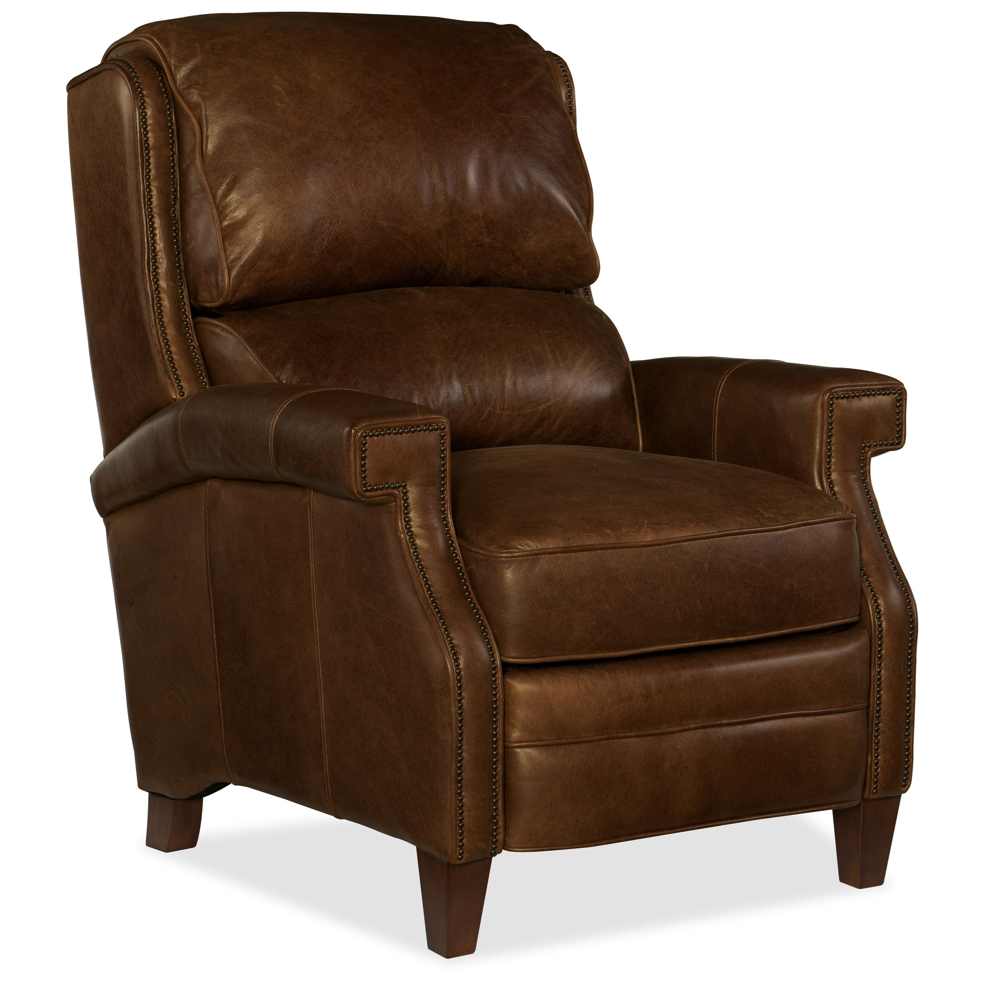 Leather Reclining Chairs Reclining Chairs Albert Transitional Leather Recliner By Hooker Furniture At Belfort Furniture