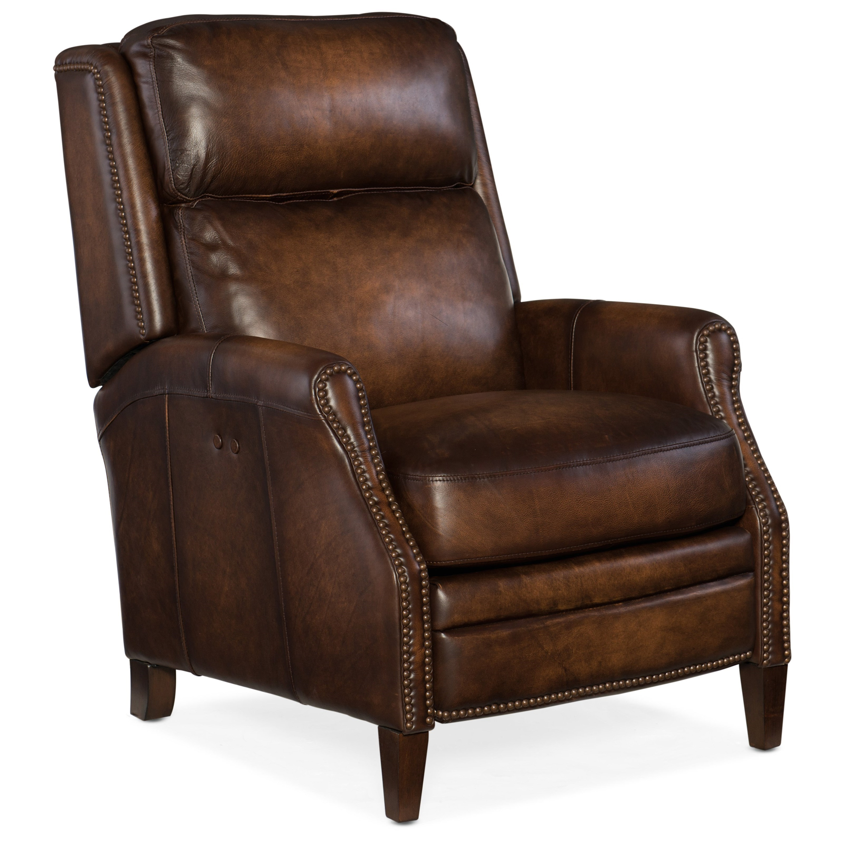 Leather Reclining Chairs Reclining Chairs Zephyr Power Recliner With Nailhead Trim By Hooker Furniture At Dunk Bright Furniture