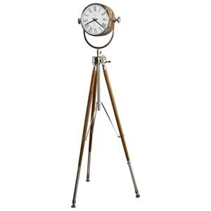 Clocks Nashua Grandfather Clock with Antique Brass