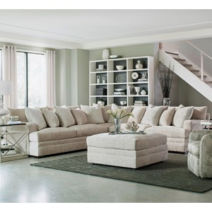 Huntington House 7100 7100 3x51316255 Contemporary U Shape Sectional Sofa With Chaise Baer
