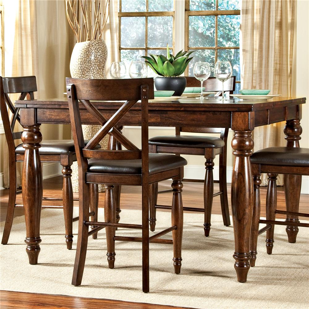 Intercon Kingston Counter Height Gathering Table With Butterfly Leaf Wayside Furniture Pub Tables
