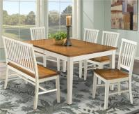 Intercon Arlington Dining Table with Slat Back Bench ...