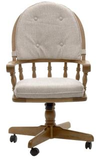 Intercon Classic Oak Swivel Game Chair with Casters and ...