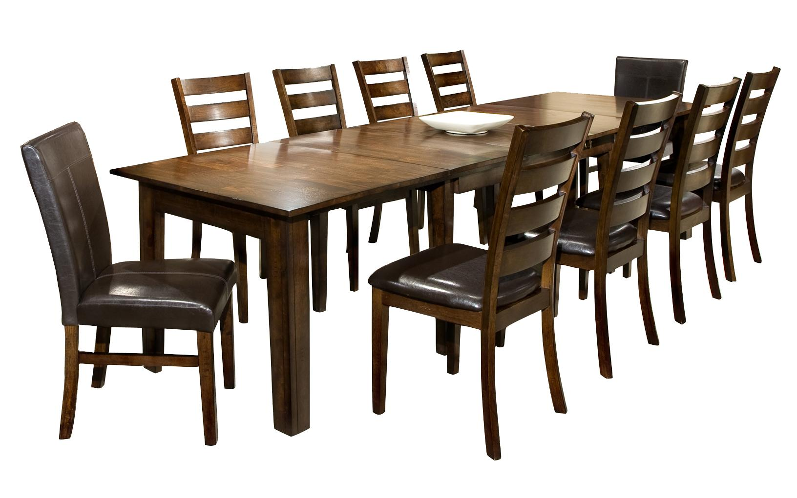 Black Dining Room Table And Chairs Kona 11 Piece Dining Set With Table And Chairs By Intercon At Wayside Furniture