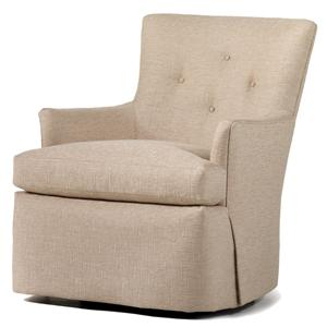 swivel upholstered chairs office recliner fine accents uph by jessica charles jacksonville beverly rocker