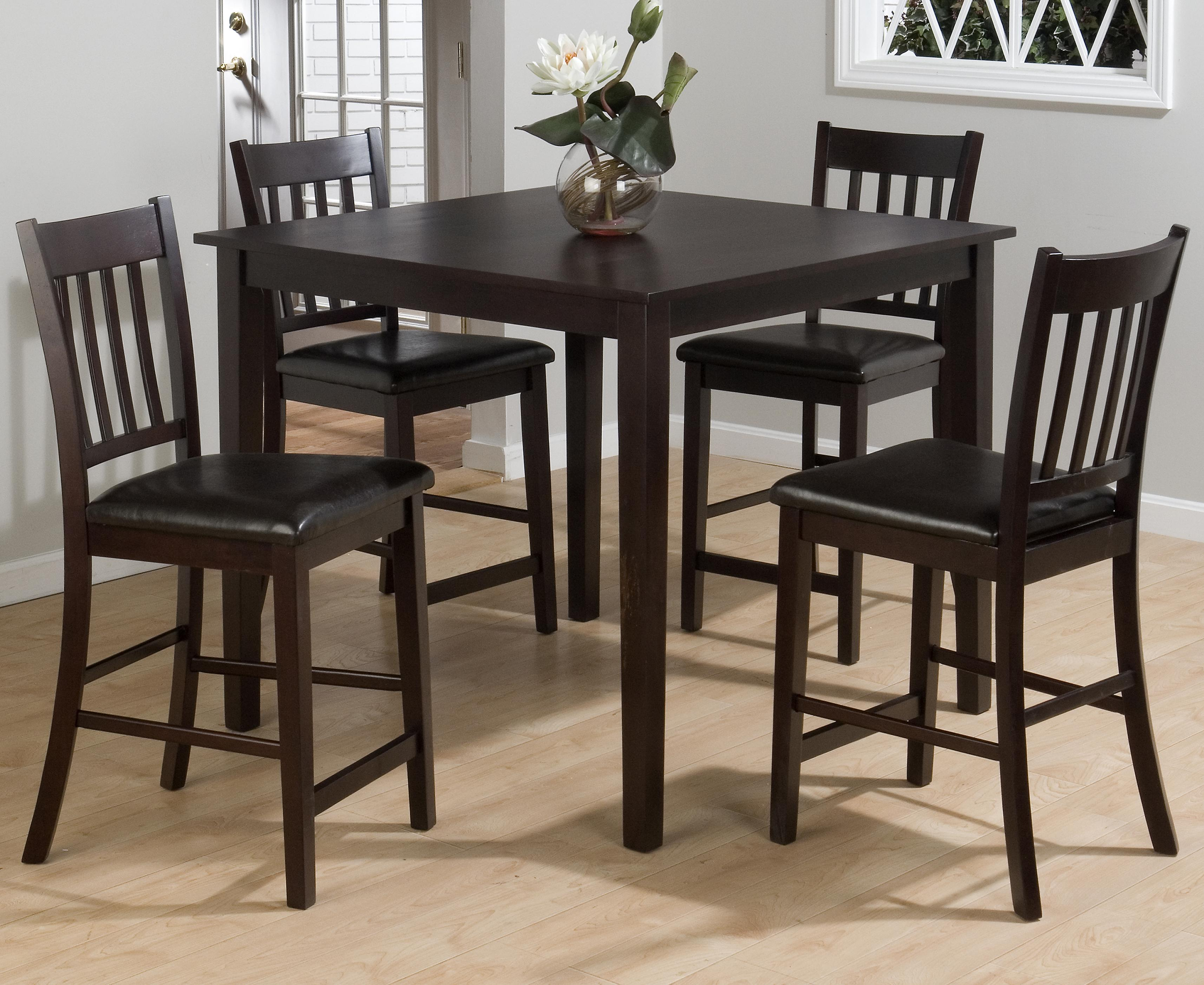 high table and chairs for kitchen hard floor chair mat canada jofran marin county 5 piece counter height set pub
