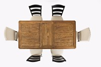 Acropolis: Black Rectangle Dining Table