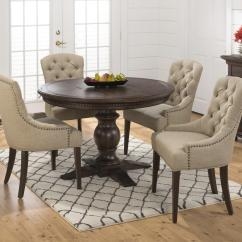 Round Table And Chairs Set Maccabee Website Jofran Evelyn 5 Piece Dining Upholstered Chair 5pc