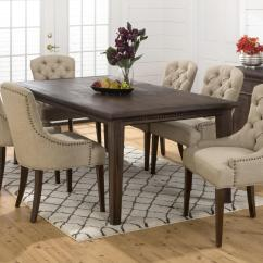 Upholstered Chairs For Dining Room Replacement Patio Chair Cushions Sale Jofran Geneva Hills Large Table And Set Dunk